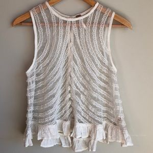 Free People Ivory Lace top Size Medium